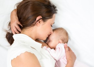 breastfeeding mom and baby